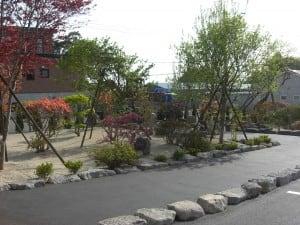 散歩のできる庭