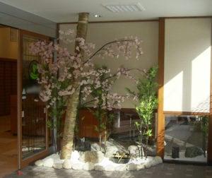 玄関入り口に和を用いた屋内施工