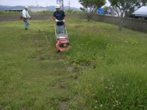 芝刈り、除草