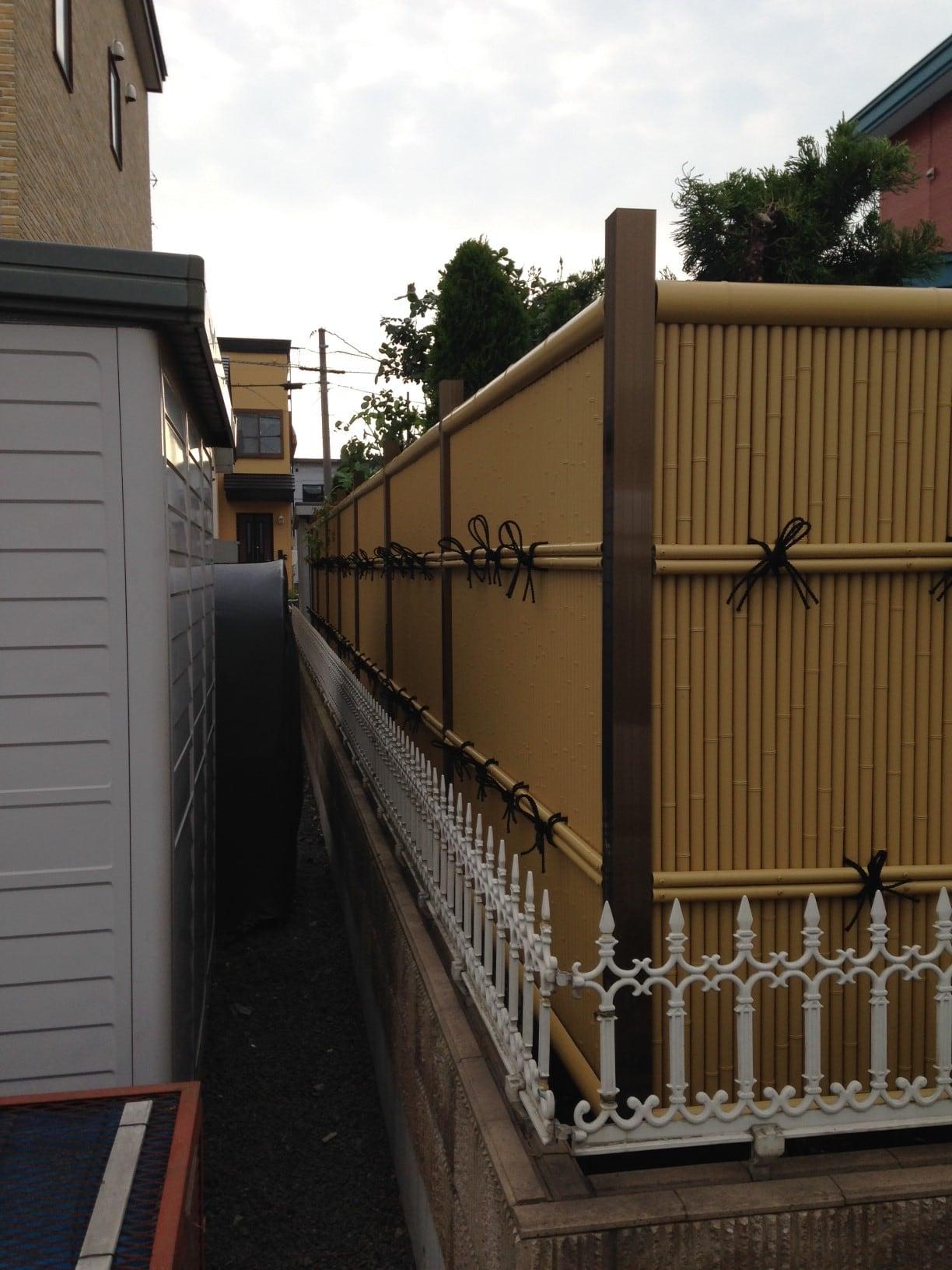 タテミス垣を設置いたしました。