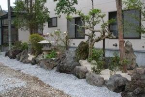 木古内のお寺の庭園工事